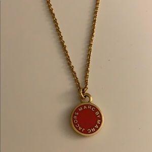 MARC JACOBS hot pink pendant necklace